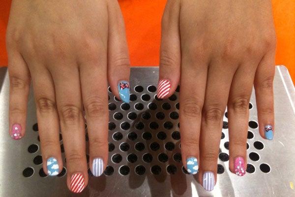 nails liberty floral nails image via teen vogue comic nails image via