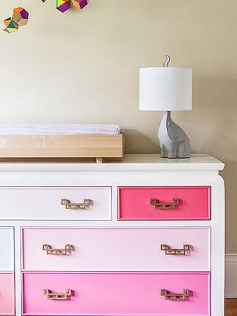 color block your dresser bedroom furniture diys