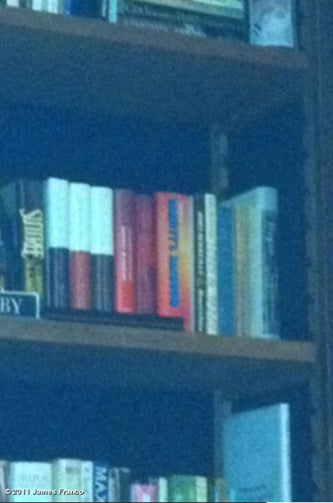 James Franco Bookshelf