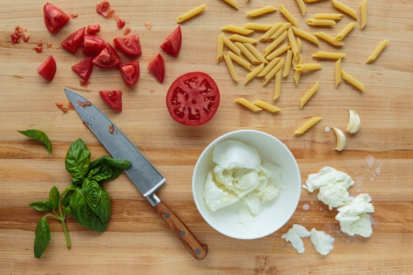 Perfect Penne With Basil & Mozzarella