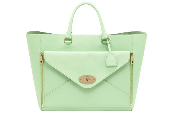 Oversized Willow Tote Classic Calf Mint