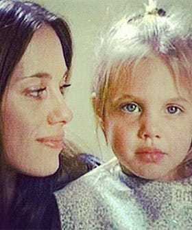Angelina Jolie Childhood Picture - Marcheline Bertrand