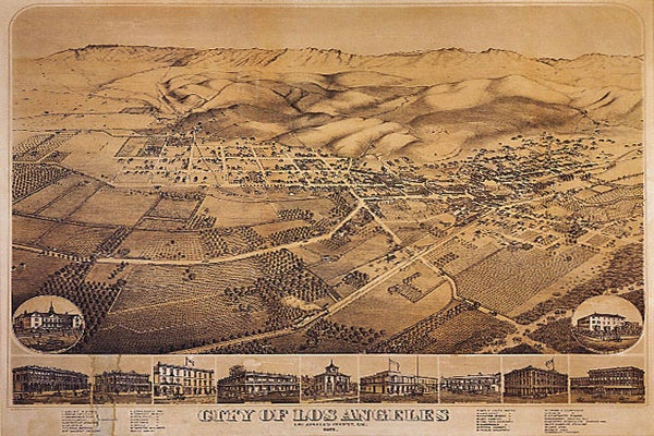 City Map of LA from 1871 print-greatvintageposters-$7.92