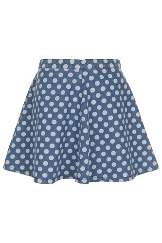 Topshop Moto Spot Swing Denim SKirt_$60_Topshop