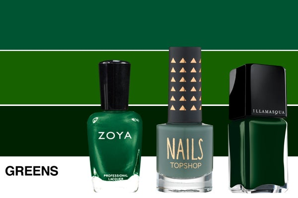 Winter-nail-polish-Greens