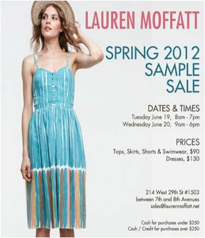Lauren Moffatt Sample Sale
