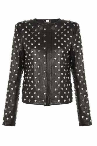 DVF studded leather jacket was £1075 now £537 @harrods.com