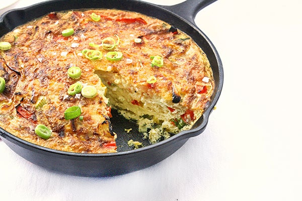 Roasted Red-Pepper-Machego Frittata