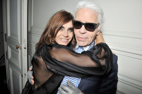 Carine-Roitfeld-&amp;-Karl-Lagerfeld