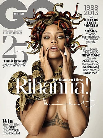 Rihanna Got Naked & Put Snakes