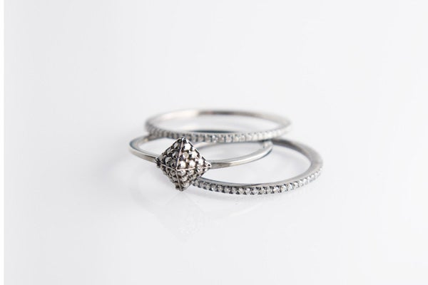 sized-Sofia-Diamond Pave Pyramid Ring