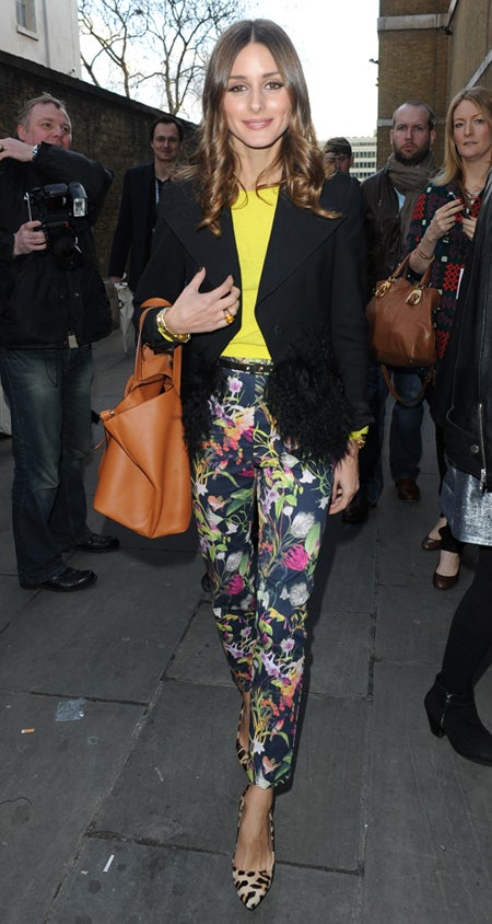 Olivia Palermo London Fashion Week EA Jacket (1)