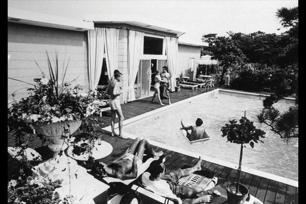 MEN OF THE PINES, CA. 1973. COURTESY OF FIRE ISLAND MODERNIST: HORACE GIFFORD AND THE ARCHITECTURE OF SEDUCTION.