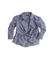 Altuzarra-Navy-Gingham-Top