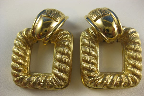 Vintage Givenchy Door Knocker Removable Earrings - vtg_treasure_hunters_ - 19.99