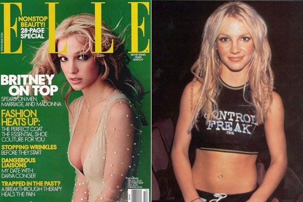 Britney Spears cover shoot with ELLE