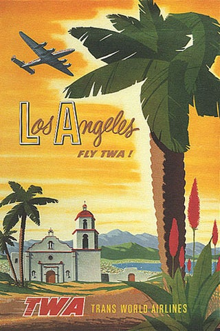 LA Vintage Travel Poster-greatvintageposters-$7.92
