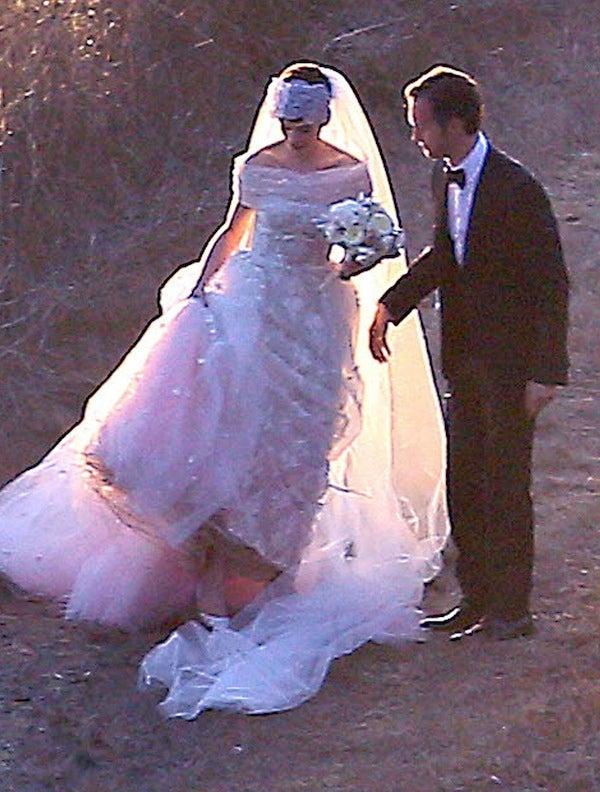 Anne Hathaway Wedding Dress Celebrity Weddings