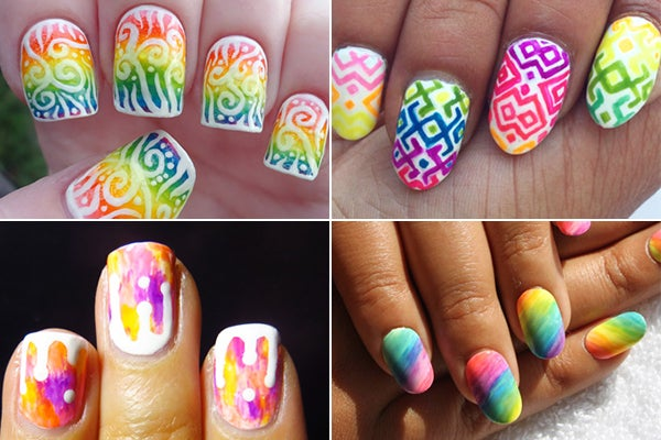Neon nail polish art day glo contest revlon nanchallenge3postimage prinsesfo Choice Image