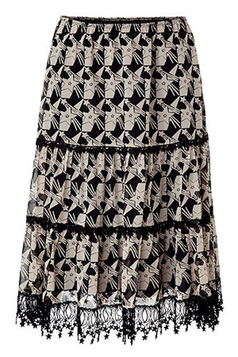 anna-sui-black-and-cream-star-print-skirt