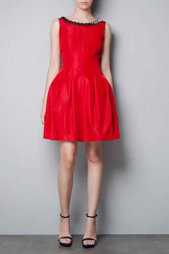 Zara_Pleated-Dress-with-Jewelled-Collar_99.90