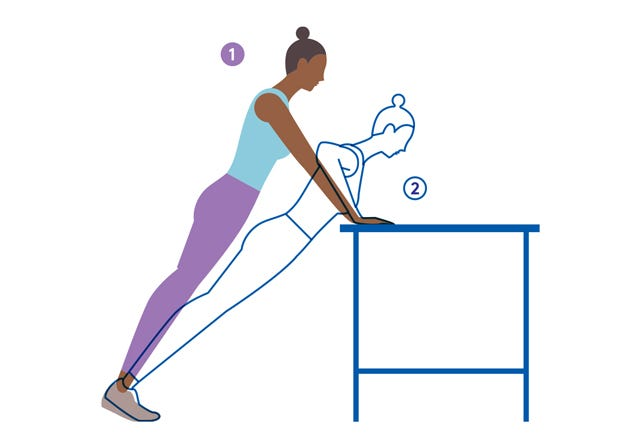 Slim Down 7 Quick Moves For The Desk Bound Stylequick