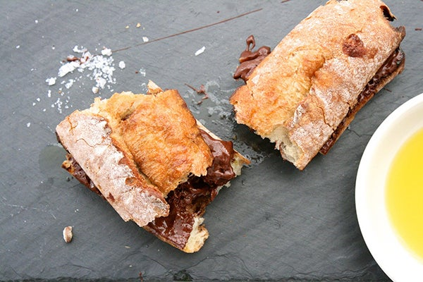 Chocolate-Olive Baguette With Sea Salt