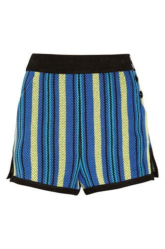PROENZA-SCHOULER-Suede-trimmed-striped-tweed-shorts_$695_netaporter