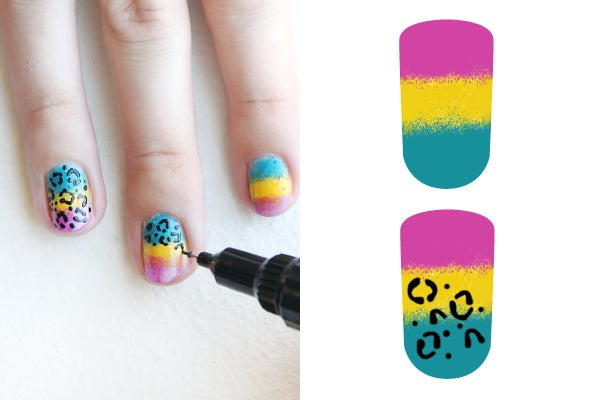 lisa-frank-nail-art-cheetah-3