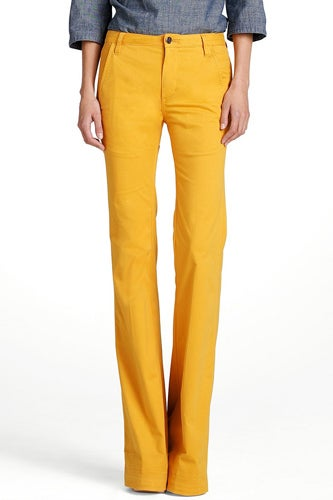 High Wasited Yellow Flare Jeans