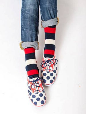 Keds Collaboration With Happy Socks Polka Dot Trend