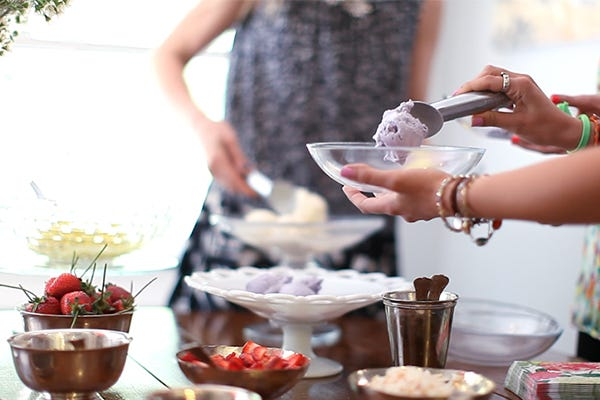 Entertaining? This DIY Ice Cream Bar Is Sure To Be A Hit!