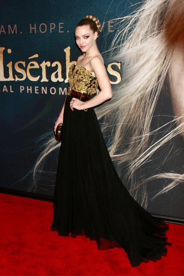 Amanda Seyfried Les Miserables Premiere New York
