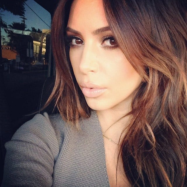 Kim Kardashian Returns To Her Brunette Roots