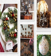 The board: Pins for Holidays The pinner: Christiana of US Meets UK What you'll find: Some insane dessert recipes, ranging from sticky toffee pudding to homemade peppermint patties; centerpiece and gift tag ideas; lots of outdoor decor inspiration.