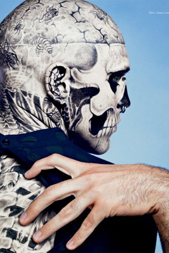 Zombie Boy Without Tattoos- Rick Genest Without Tattoos