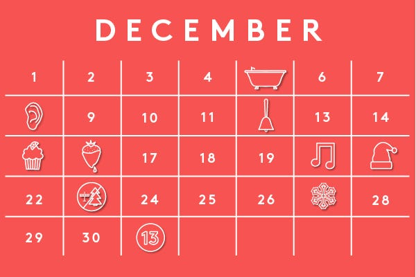Weird National Holidays - December 2013 Calendar