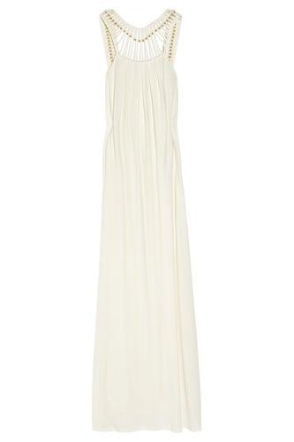 Long Mirabelle Satin-Jersey Maxi Dress