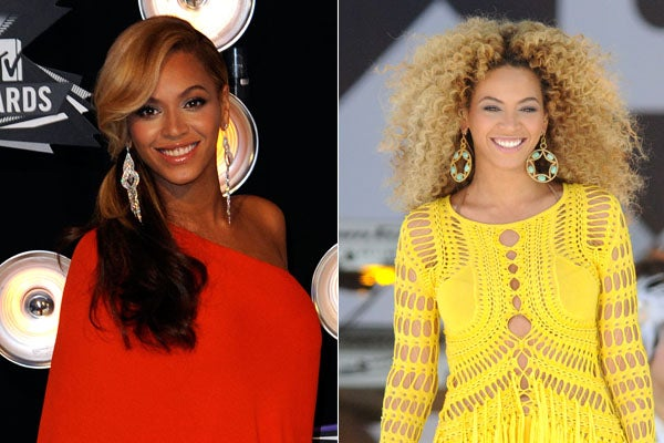 Beyonce Hairstyles Beyonce S Curly Or Straight Hair Better