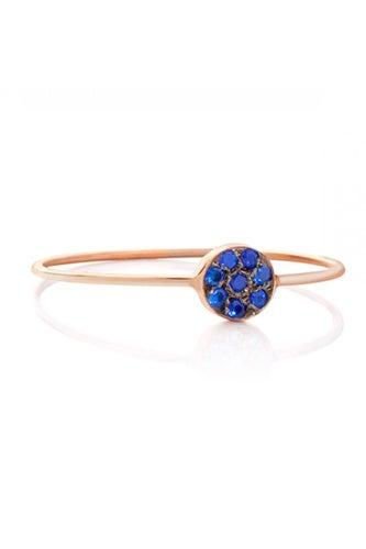 Kabiri Polka Dot Blue Sapphire Ring