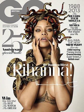 Theme interesting, Rihanna nude gq