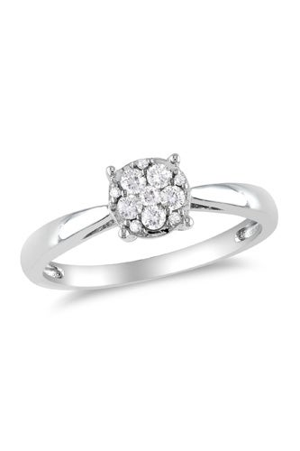 Ice 1/5 Carat Diamond 14k White Gold Engagement Ring