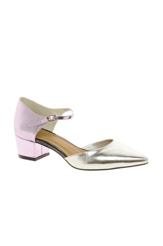 ASOS Suppose Metallic Mary Jane Heels