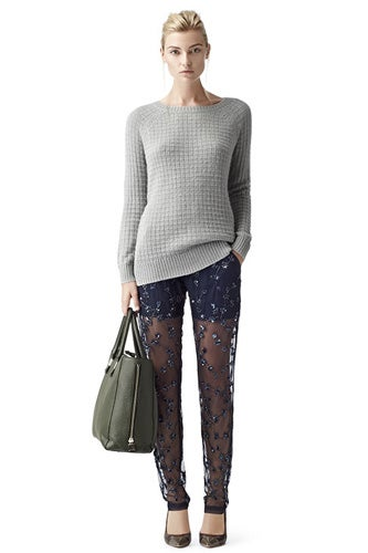 Reiss Sparkle Embellished Leggings