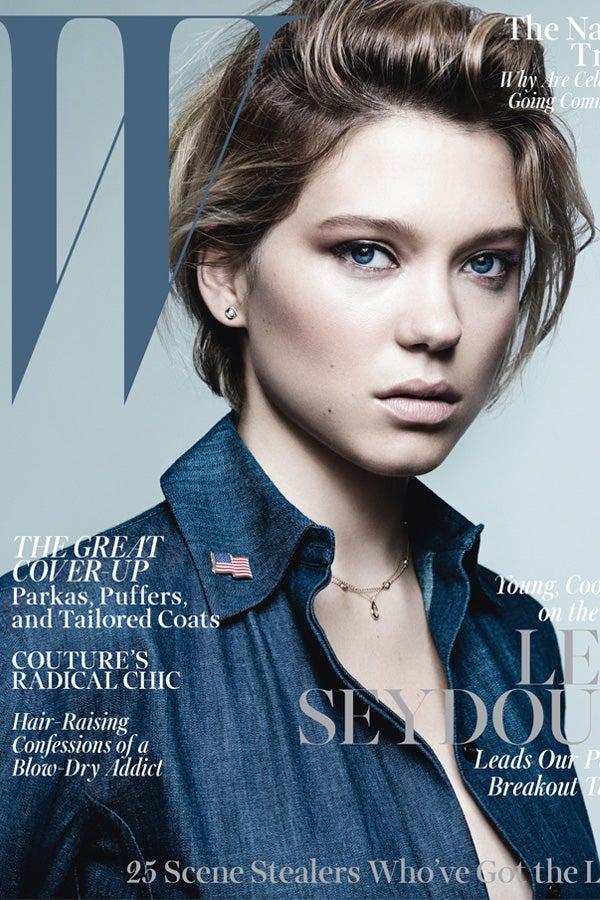 W Magazine October 2013 Cover Lea Seydoux Haircut