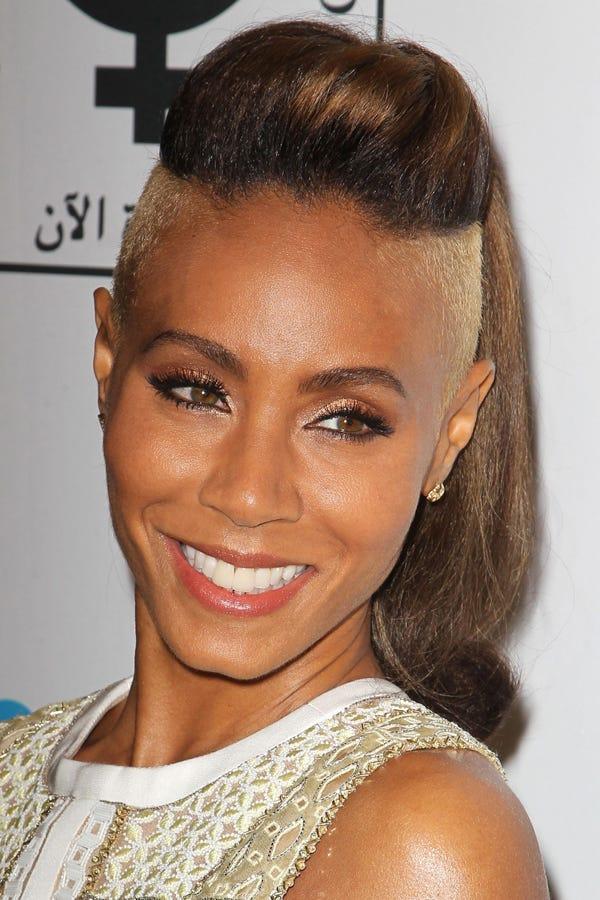 Jada Pinkett Smith Buzz Hair Cut Shaved Sides