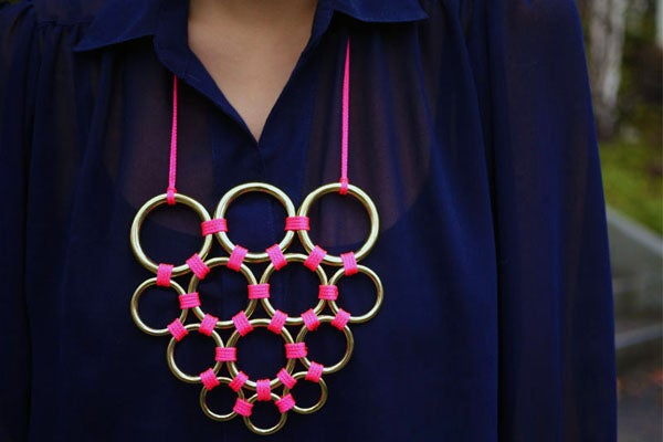 Neon Loop DIY Necklace